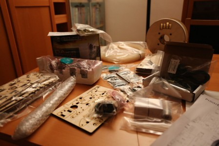 Unboxed printrbot contents